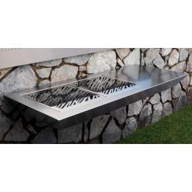Stromboli Luxury Barbacoa de diseño para carbón en acero inoxidable.