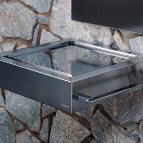 Etna Luxury Barbacoa de diseño para carbón en acero inoxidable