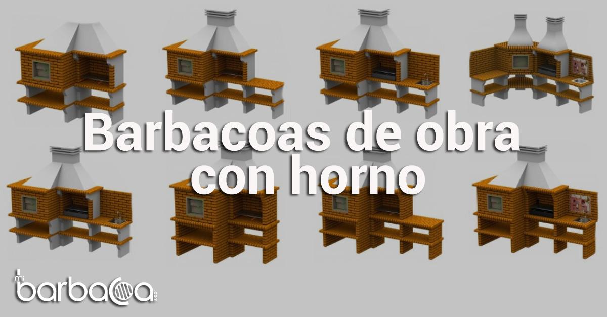 Barbacoas de obra con horno - Obra - barbacoa - mibarbacoa - barbacoas
