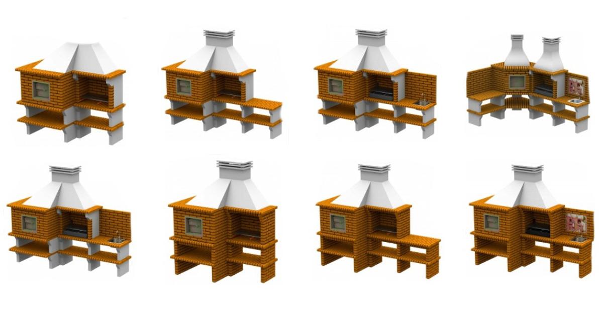 Montaje de barbacoas de obra con horno - mibarbacoa.com - barbacoa de obra- barbacoas de obra con horno