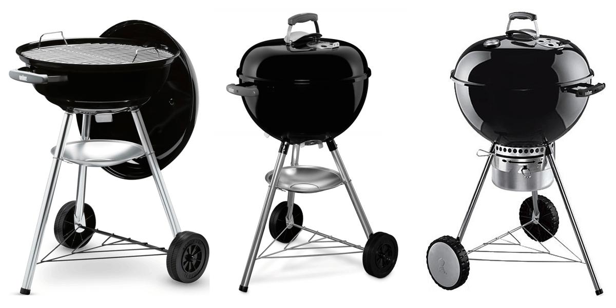 3 mejores barbacoas de carbón Weber