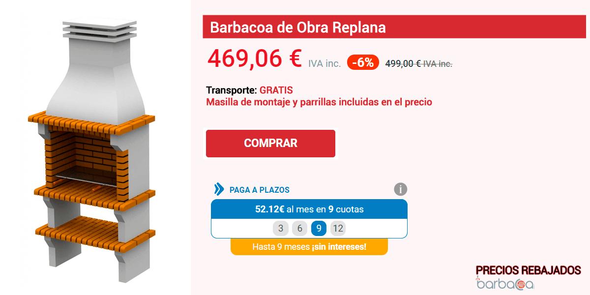 Ficha de una de las barbacoas al mejor precio
