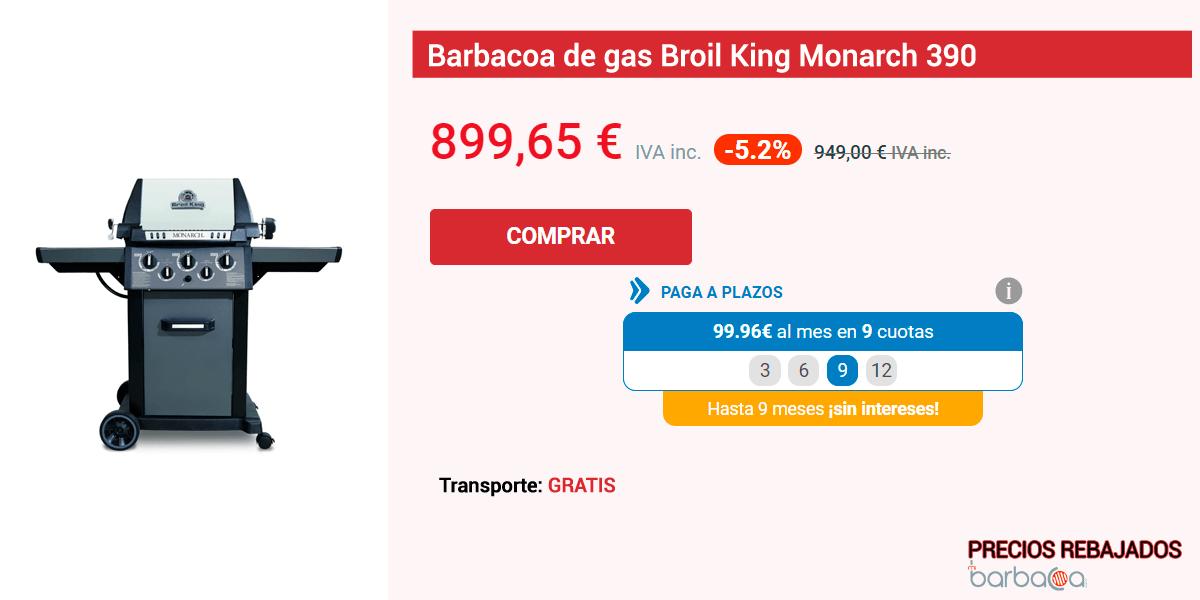Ficha de una de las barbacoas con precios especiales