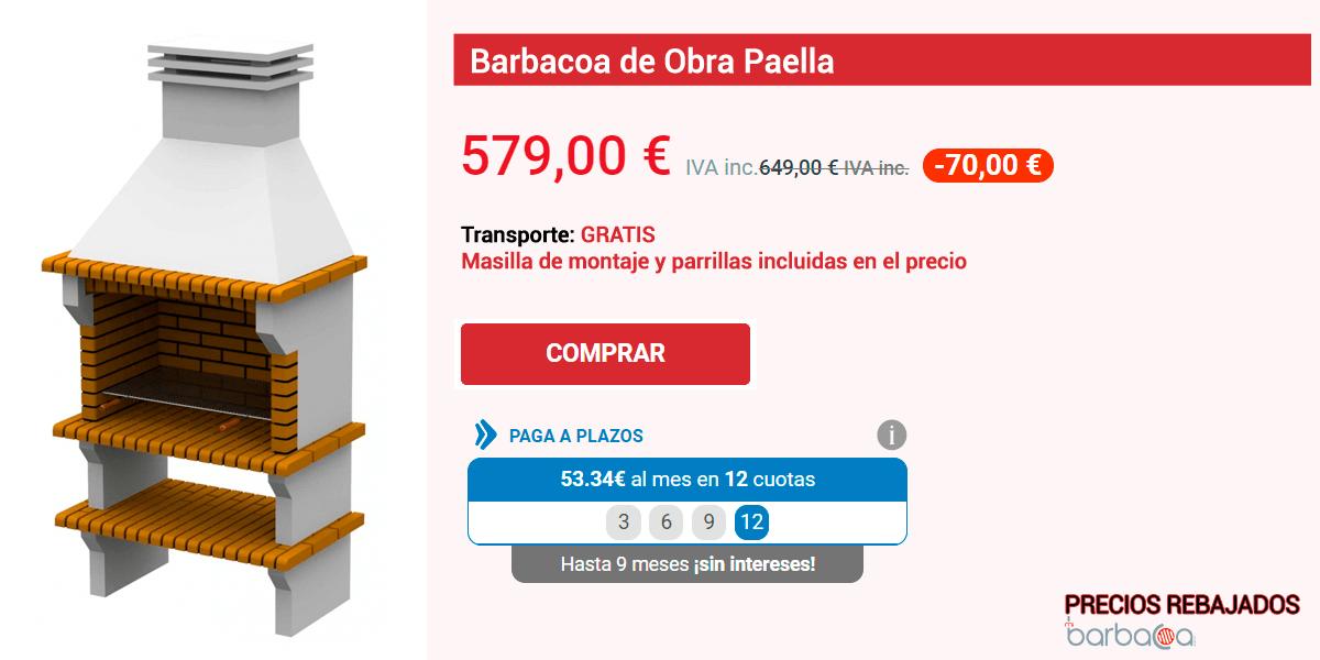Ficha de una de las Barbacoas con precios rebajados