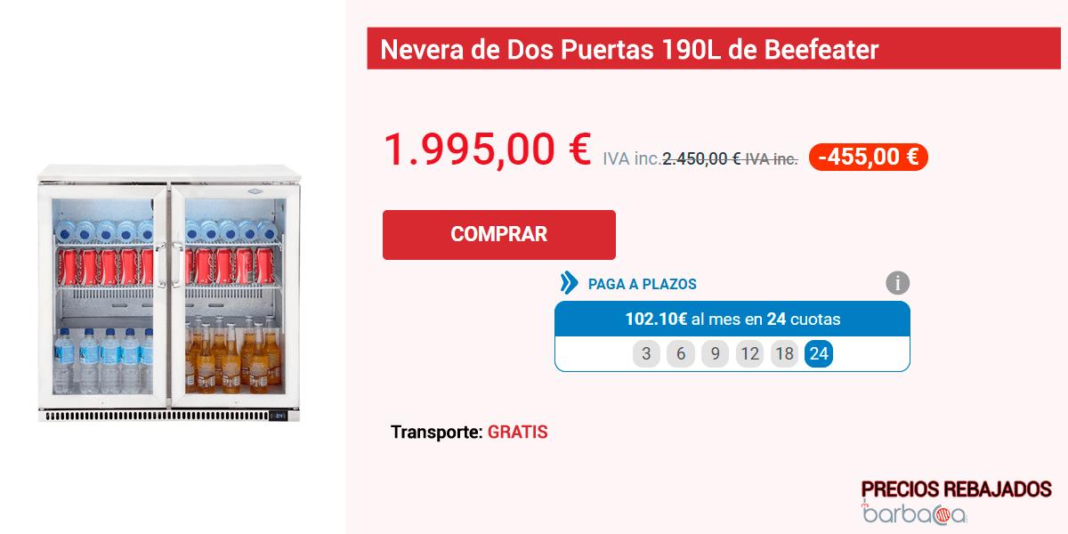 Ficha de una de las barbacoas con precios reducidos