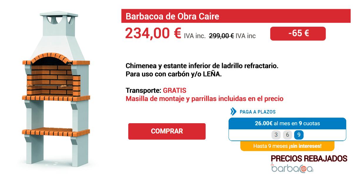 Ficha con detalles de una oferta en uno de los modelos de barbacoa