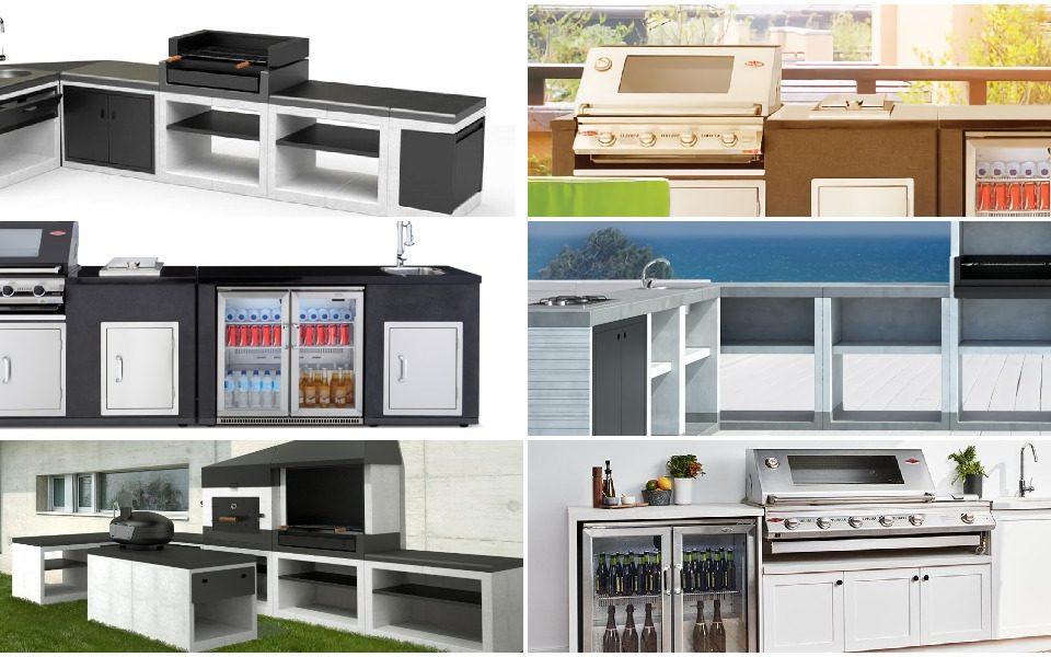 Fotografía de una cocina de exterior de nuestra selección de cocinas de exterior en mibarbacoa.com