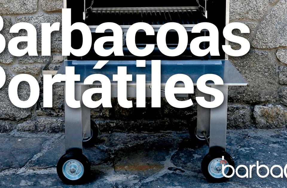 Imagen previa para que aparezca en las publicaciones en redes sociales, con una fotografía de una barbacoa, el texto Barbacoas portátiles y nuestro logotipo.