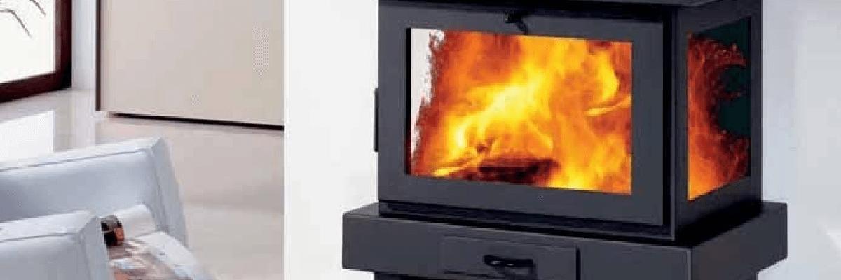 Fotografía de una estufa encendida. En mibarbacoa.com estufas - estufas pellets - estufas pelle - estufa pelles - pellet - pelles